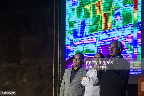 Egyptian Minister of Antiquities Mamdouh elDamati Jean Claude Barre of Heritage Innovation Preservation institute and Hany Helal of the Faculty of...
