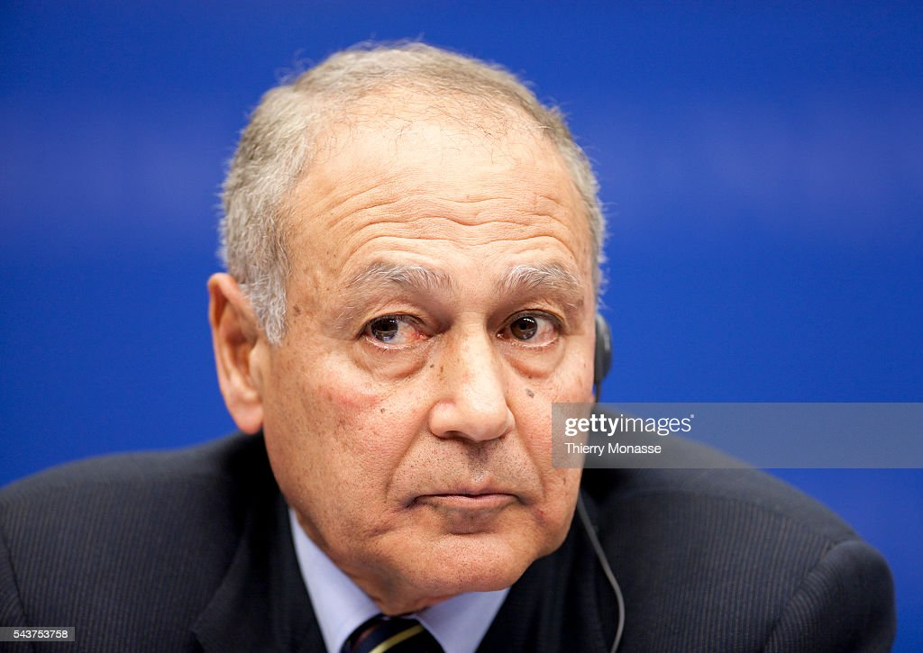 Egyptian Minister of Foreign Affairs <b>Ahmed Ali</b> ABOUL GHEIT (R) are talking ... - egyptian-minister-of-foreign-affairs-ahmed-ali-aboul-gheit-are-to-picture-id543753758