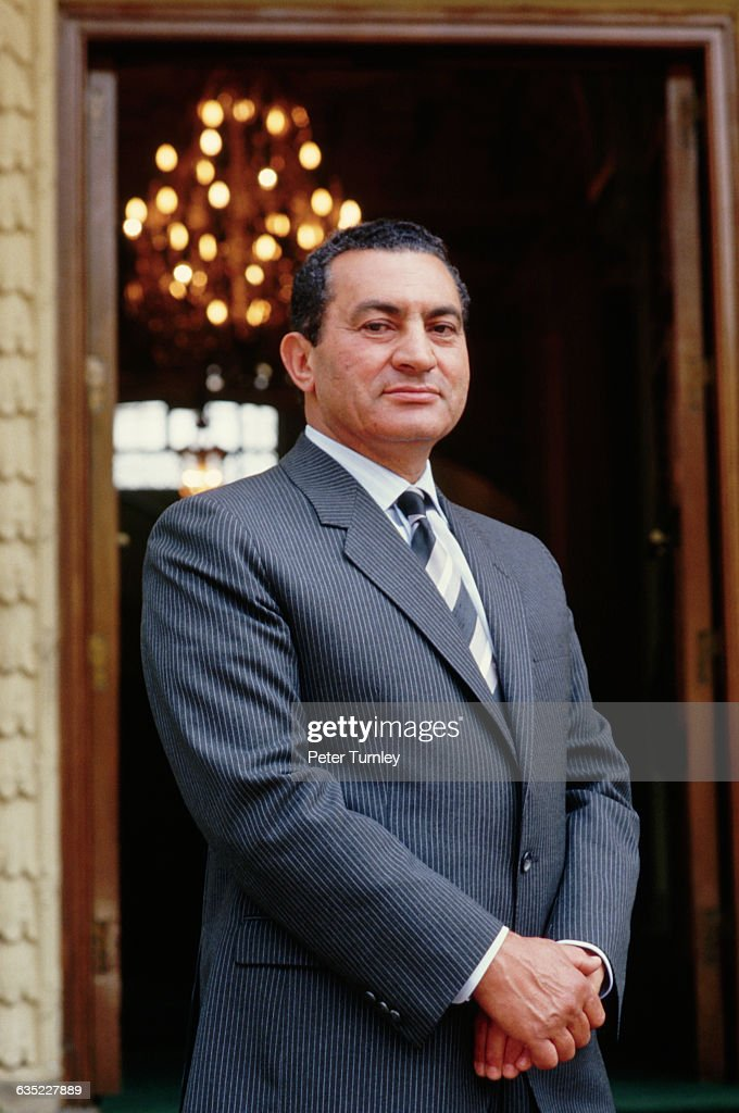 Egyptian President <a gi-track='captionPersonalityLinkClicked' href=/galleries/search?phrase=Hosni+Mubarak&family=editorial&specificpeople=201752 ng-click='$event.stopPropagation()'>Hosni Mubarak</a>