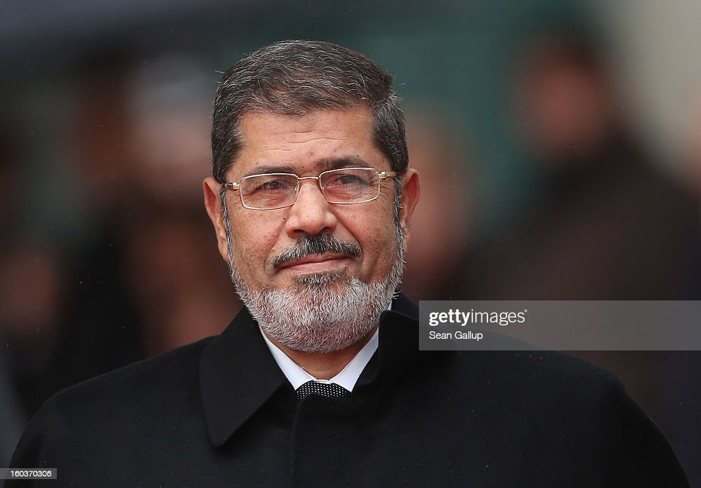 Egyptian President Mohamed Mursi arrives at the Chancellery to meet with German Chancellor Angela Merkel on January 30, 2013 in Berlin, Germany. Mursi has come to Berlin despite the ongoing violent protests in recent days in cities across Egypt that have left at least 50 people dead. Mursi is in Berlin to seek both political and financial support from Germany.