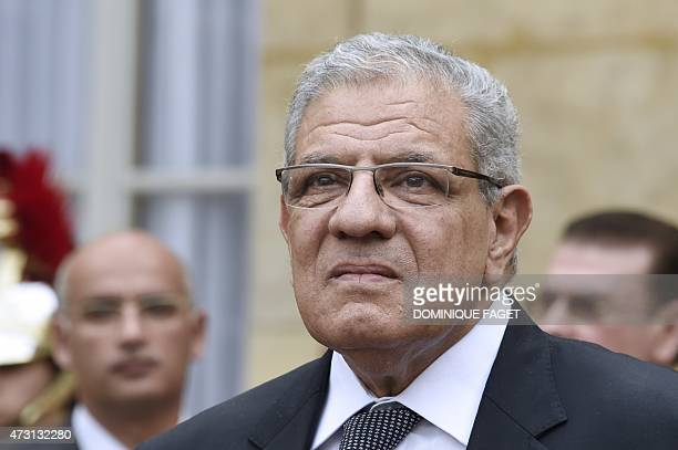 Egyptian Prime Minister Ibrahim Mahlab arrives on May 13 2015 for a meeting with his French counterpart at the prime minister's office in Paris AFP...