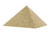 Egyptian Pyramid isolated on white background. 3D render
