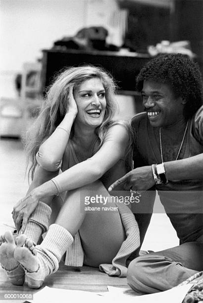 Egyptianborn French singer Dalida shares a laugh with choreographer Lester Wilson