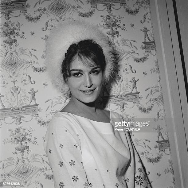 Egyptianborn singer Dalida at home