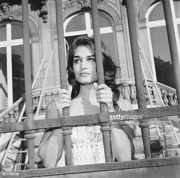 Egyptianborn singer Dalida outside L'Etoile concert hall