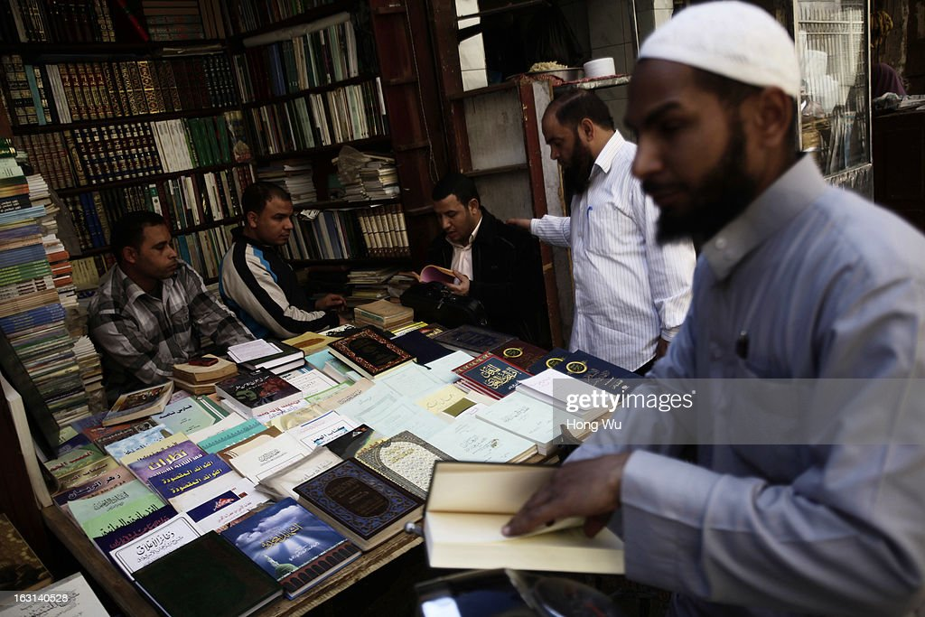 Egyptians shop for books at a book store on March 4, 2013 in Cairo, Egypt. It has been over two years since the start of the Egyptian revolution on that formed to overthrow the regime of then Egyptian President Hosni Mubarak.