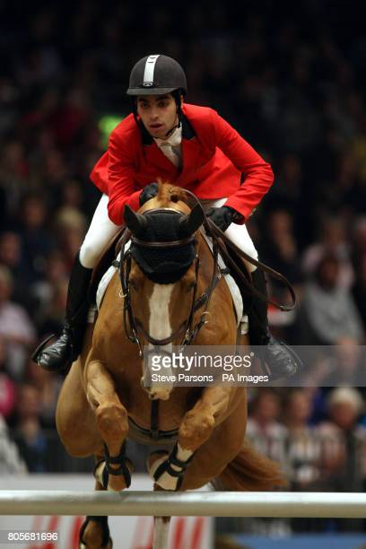 Egypt's Abdel Said rides Deja Vu in the Martin Collins Eraser Stakes during the London International Horse Show at the Olympia Exhibition Centre...