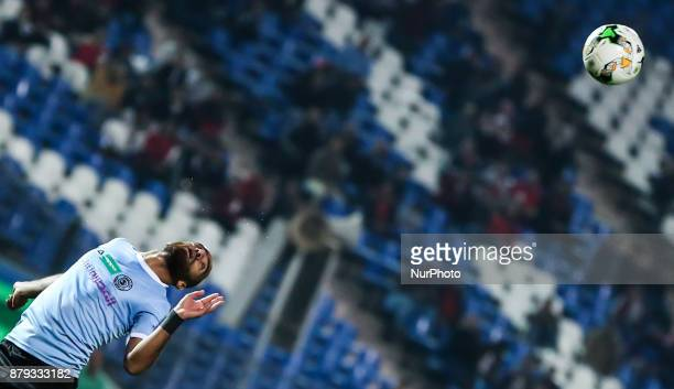 Egypt's AlDakhlia player Ahmed Alaa reacts during the Egypt Primer League Fixtures 6 Match Between AlAhly and AlDakhlia at Cairo Staduim in Cairo on...