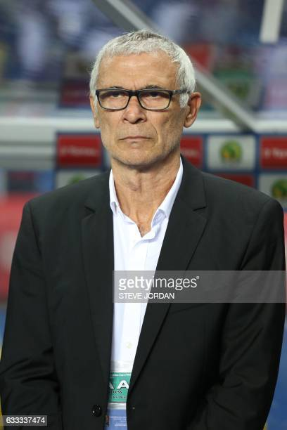 Egypt's Argentinian coach Hector Raul Cuper attends the 2017 Africa Cup of Nations semifinal football match between Burkina Faso and Egypt at the...