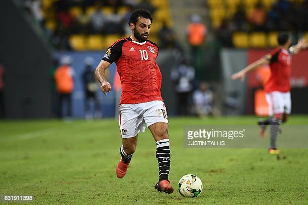 Egypt's forward Mohamed Salah controls the ball during the 2017 Africa Cup of Nations group D football match between Mali and Egypt in PortGentil on...