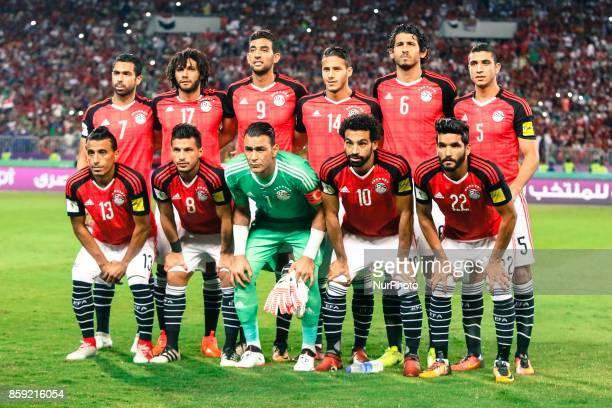 Egypt's Mohamed AbdelShafy Tarek Hamed Essam ElHadary Mohamed Salah Saleh Gomaa Ahmed Fathy Mohamed Elneny Hassan Ahmed Ramadan Sobhi Ahmed Hegazi...