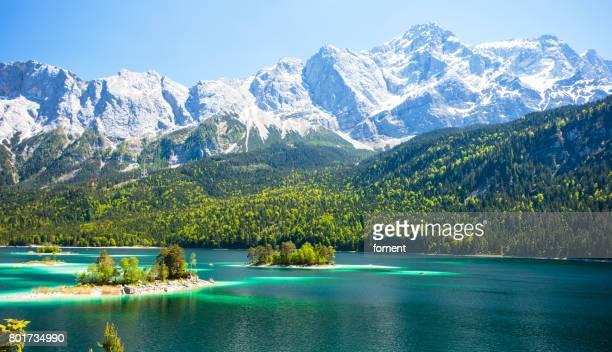 Eibsee lake in Bavarian Alps