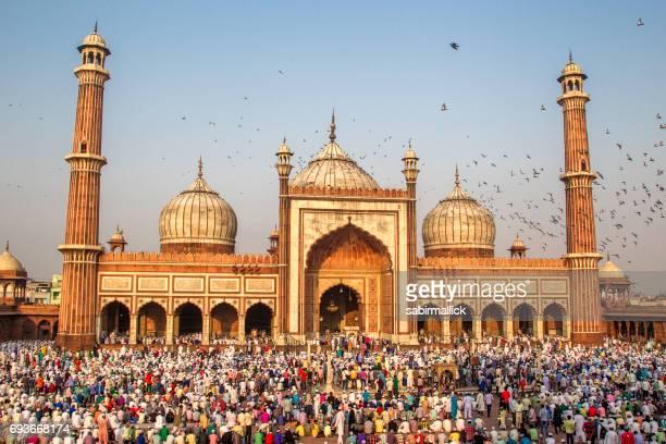 Eid Prayer at Jama Masjid, Old Delhi, India.