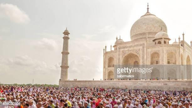 Eid Prayer in Taj Mahal, Agra-India