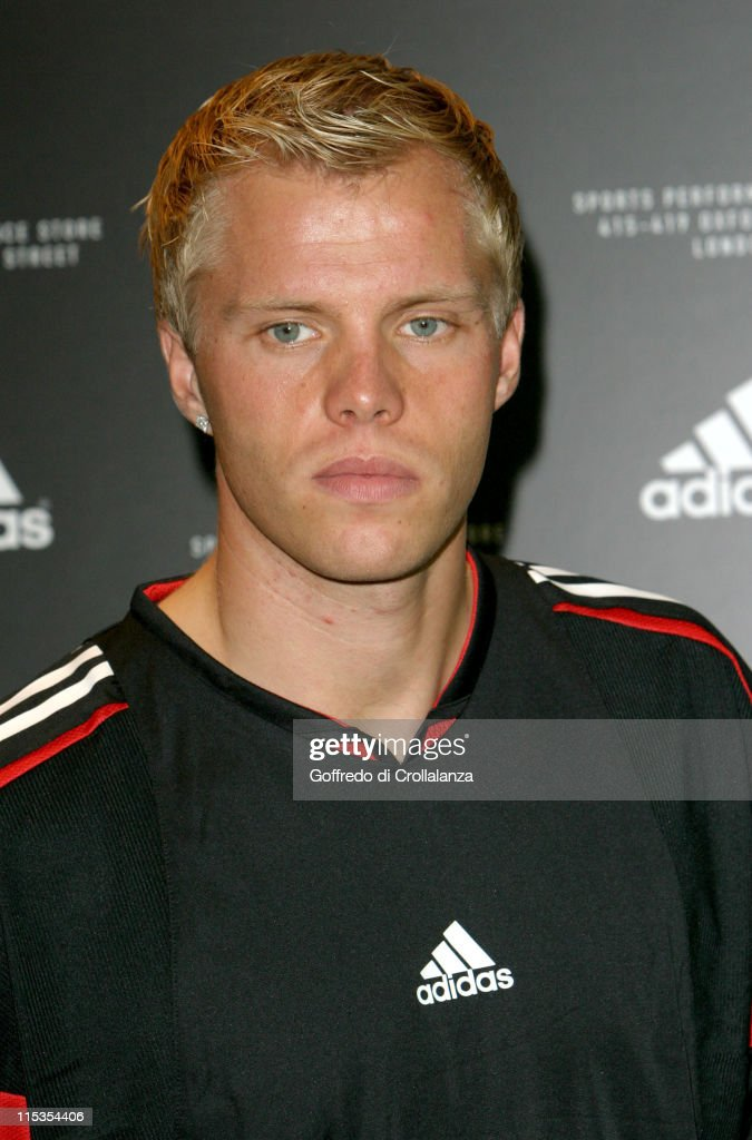 Eidur Gudjohnsen during Launch of First Adidas Sports Performance Store in London at Adidas Store in London, Great Britain.