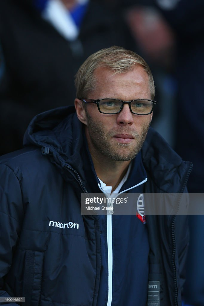 <a gi-track='captionPersonalityLinkClicked' href=/galleries/search?phrase=Eidur+Gudjohnsen&family=editorial&specificpeople=171363 ng-click='$event.stopPropagation()'>Eidur Gudjohnsen</a> of Bolton Wanderers looks on from the stands during the Sky Bet Championship match between Reading and Bolton Wanderers at the Madejski Stadium on December 6, 2014 in Reading, England.
