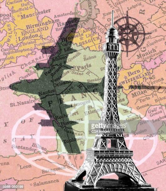 Eiffel Tower, Airplane