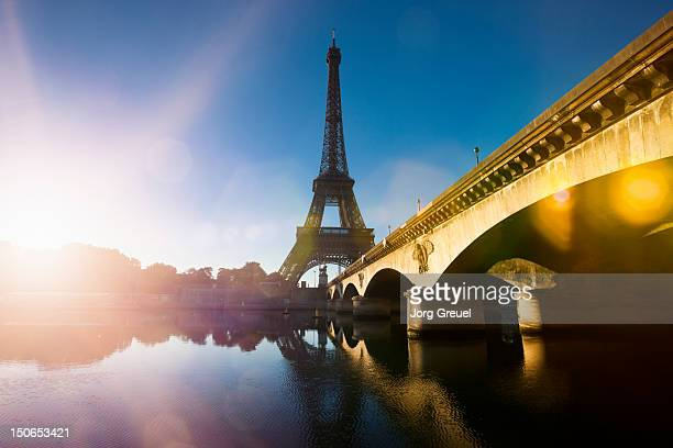 Eiffel Tower and Pont d´Iena