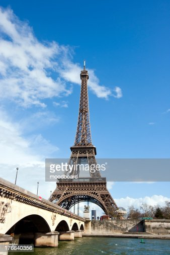 Eiffel Tower and River Seine in Paris, France : Stock Photo