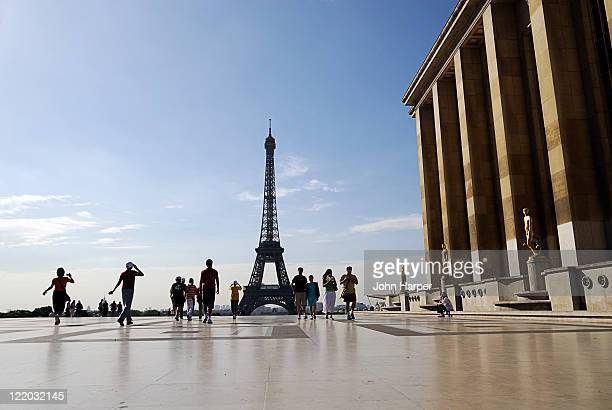 Eiffel Tower from Chaillot Palace, Paris, France