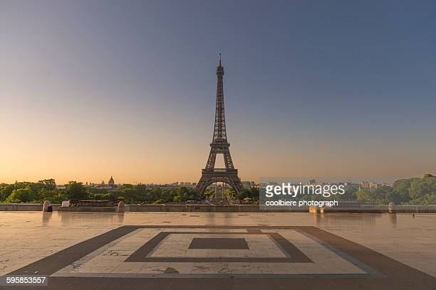 Eiffel tower from Trocadero garden