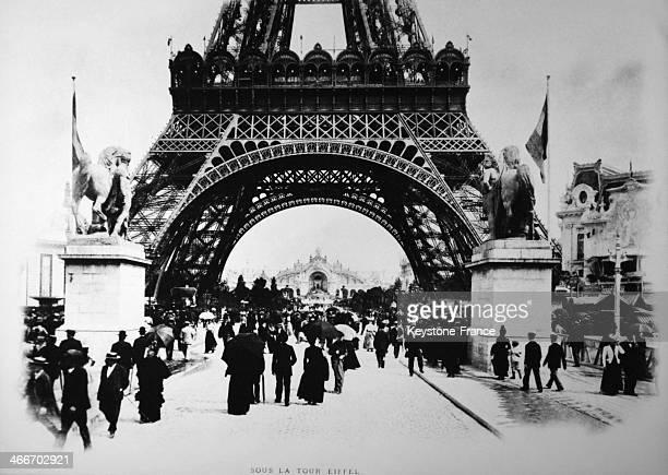 Eiffel Tower in 1889 in Paris France