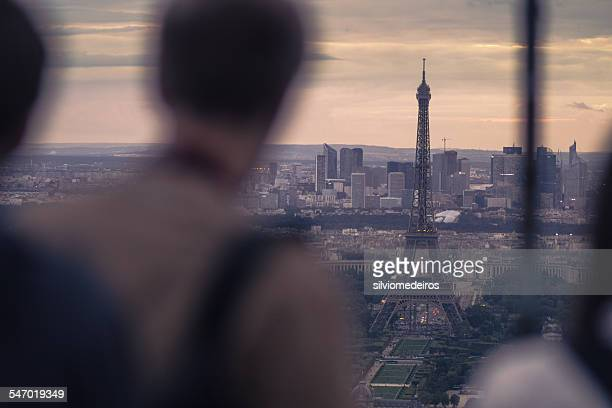 Eiffel Tower viewed from Montparnasse Tower,  Paris, France