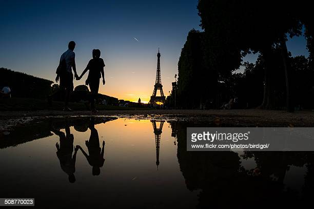 Eiffel with couple lover
