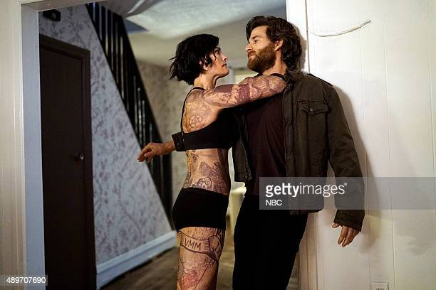 BLINDSPOT 'Eight Slim Grins' Episode 103 Pictured Jaimie Alexander as Jane Doe Johnny Whitworth as Ruggedly Handsome Man