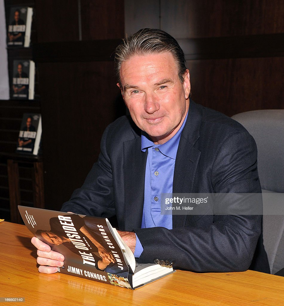 Eight time tennis grand slam champion Jimmy Connnors signs copies of his new book 'The Outsider' at Barnes & Noble bookstore at The Grove on May 22, 2013 in Los Angeles, California.