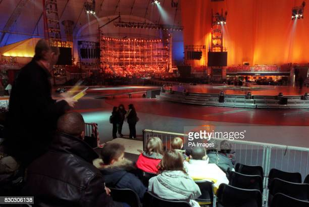 Eight very special guests at the Dome for their own penultimate rehearsal for the Dome Opening Celebrations The children aged between eight and ten...