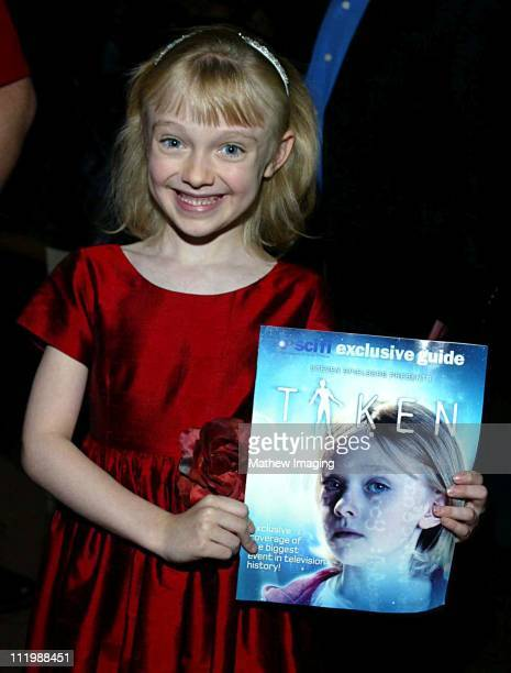 Eight yearold Dakota Fanning who is currently filming Dr Seuss's Cat In the Hat has a major role in Steven Spielbergs Taken The 20 hour miniseries...