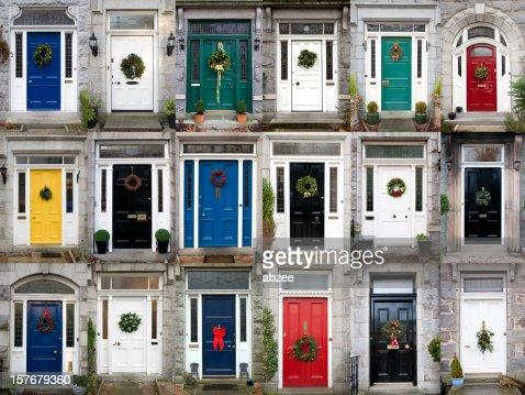 Eighteen Christmas Doors
