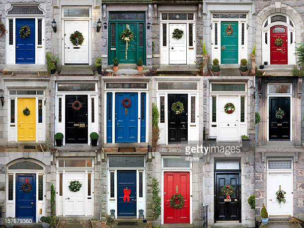 Eighteen Christmas Doors