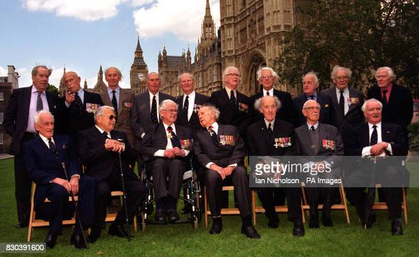 Eighteen RAF veterans meet before a 60th anniversary reception honouring Battle of Britain pilots at Westminster in London The fighter aces mostly in...