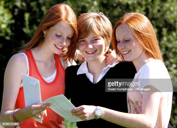 Eighteenyearold triplets Ali Helen and Katie Prescott from Durham High School celebrate their ALevel passes and now all plan to study medicine Ali...
