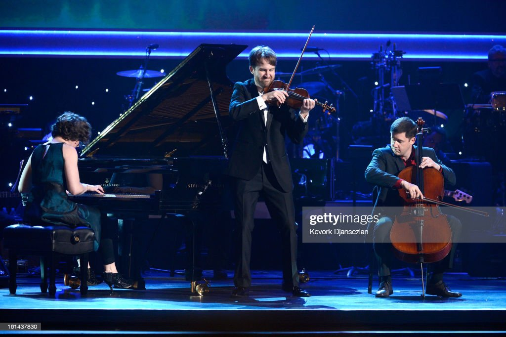 Eighth Blackbird perform onstage at the The 55th Annual GRAMMY Awards at Staples Center on February 10, 2013 in Los Angeles, California.