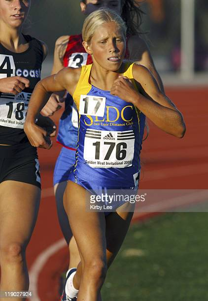 Eighth grader Jordan Hasay age 13 finished sixth in the girls mile in 45638 in the 46th Golden West Invitational at Folsom High's Prairie City...