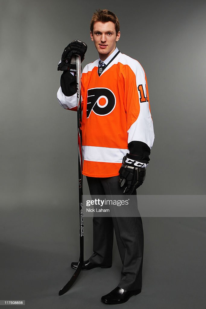 Eighth overall pick Sean Couturier by the Philadelphia Flyers poses poses for a portrait during day one of the 2011 NHL Entry Draft at Xcel Energy Center on June 24, 2011 in St Paul, Minnesota.