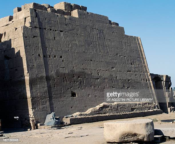 Eighth pylon dating from the reign of Thutmose II and Hatshepsut Karnak temple complex Egyptian civilisation New Kingdom Dynasty XVIII