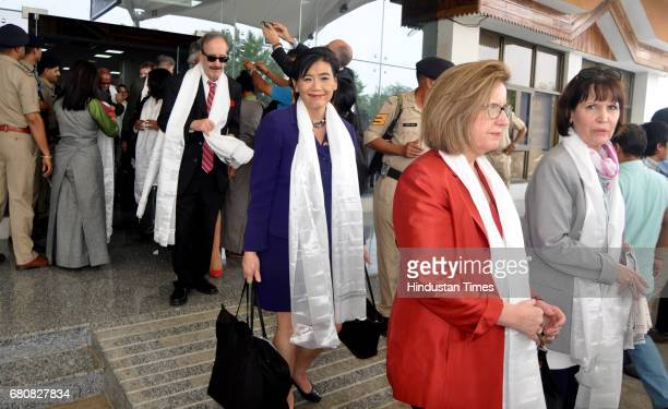 Eightmember of US delegation arrive at Gaggal Airport on May 9 2017 in Dharamshala India They will meet Tibetan spiritual leader the Dalai Lama and...