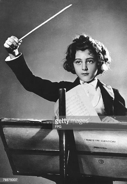 Eightyearold Italian conductor Ferruccio Burco circa 1947