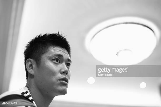 Eiji Kawashima of Japan speaks to the press during a media session at the Hyatt Regency Clearwater Beach Resort and Spa on June 3 2014 in Clearwater...