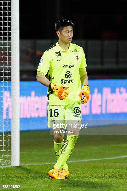 Eiji Kawashima of Metz during the Ligue 1 match between FC Metz and Toulouse FC at Stade SaintSymphorien on May 14 2017 in Metz France