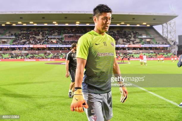 Eiji Kawashima of Metz during the Ligue 1 match between FC Metz and AS Monaco on August 18 2017 in Metz