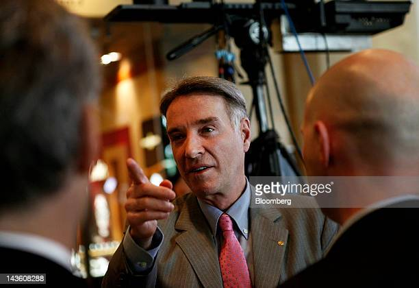 Eike Batista chief executive officer of EBX Group Co Ltd speaks after a Bloomberg Television interview during the annual Milken Institute Global...