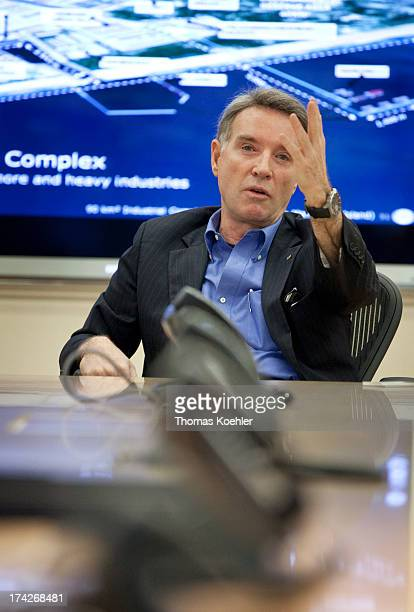 Eike Batista founder of EBX Holding and richest man of Brazil at his office on February 15 2012 in Rio de Janeiro Brazil Batista is German citizen...