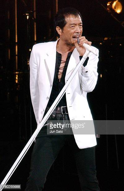 Eikichi Yazawa during Eikichi Yazawa Kicks Off 'Fifty Five Way' Tour with Five Sold Out Shows December 15 2004 at Nippon Budokan in Tokyo Japan