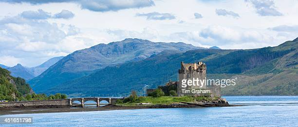 Eilean Donan Castle a highland fortress in Loch Alshe at Dornie Kyle of Lochalse in the western hIghlands of Scotland