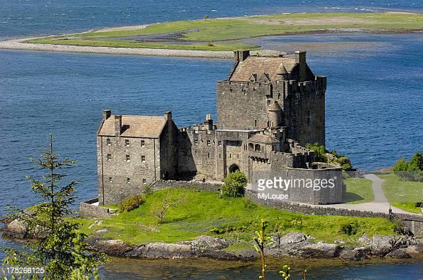 Eilean Donan castle and Loch Duich Highlands Region Scotland UK